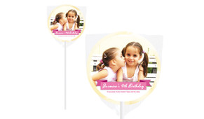 Banner Photo Birthday Personalised Ivory Pops