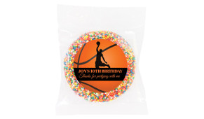 Basketball Birthday Personalised Chocolate Freckle