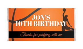 Basketball Personalised Birthday Chocolate Bars