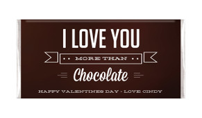 More Than Chocolate Personalised Valentines Day Chocolate Bars