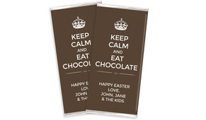 Keep Calm Easter Personalised Chocolates