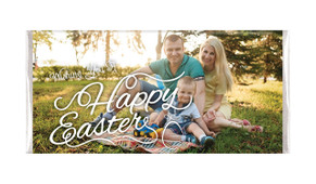 A Happy Easter With Photo Personalised  Easter Chocolate