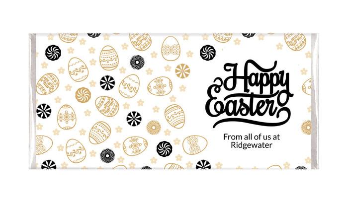 Sophisticated Happy Easter Custom Chocolates