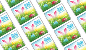 Bunny In The Meadow Easter Personalised Mini Chocolates