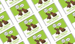 Chocolate Bunnies Easter Personalised Mini Chocolates