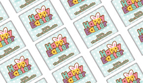 Happy Easter Personalised Mini Chocolates
