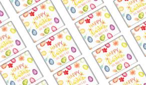 Watercolour Eggs Easter Personalised Mini Chocolates