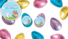 Big Egg Bunny Foil Covered Chocolate Half Eggs