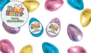 Happy Easter Personalised Chocolate Half Easter Eggs