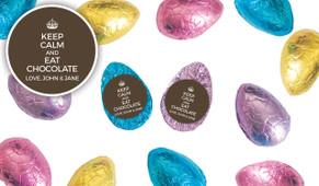 Keep Calm Personalised Chocolate Half Easter Eggs
