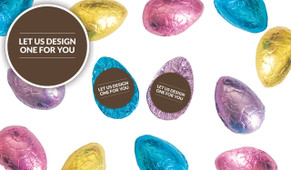 Let Us Design For You Personalised Chocolate Half Easter Eggs