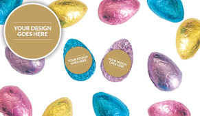 Use Your Own Design Personalised Chocolate Half Easter Eggs