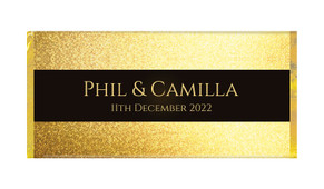 Solid Gold Wedding Personalised Chocolate Bar