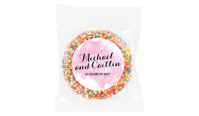 A Splash Of Pink Watercolour Wedding Personalised Giant Freckle