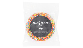 Flowing Words On Chalk Wedding Personalised Giant Freckle