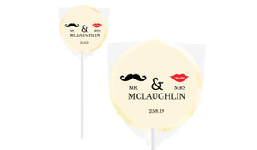 Mr And Mrs Personalised Wedding Lollipops
