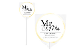 Mr And Mrs Announcement Personalised Wedding Lollipops