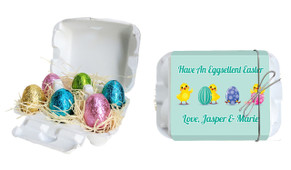 Chickens Hatching Personalised Easter Egg Carton