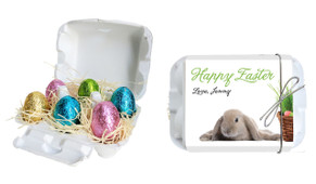 Floppy Eared Bunny Personalised Easter Egg Carton