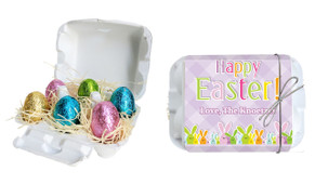 Fluffle Of Bunnies Personalised Easter Egg Carton