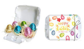 Watercolour Eggs Personalised Easter Egg Carton