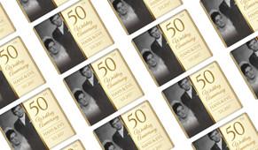 Add A Photo On Gold Personalised Anniversary Mini Chocolates