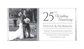 Add A Photo Personalised Silver Anniversary Chocolates