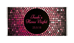 Pink Disco Ball Hens Night Chocolates