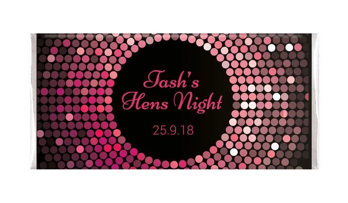 Pink Disco Ball Hens Night Chocolates