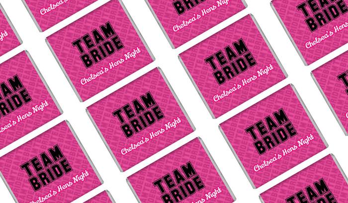 Team Bride Personalised Hens Night Mini Chocolates