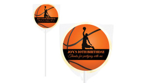 Basketballer Personalised Birthday Lollipop