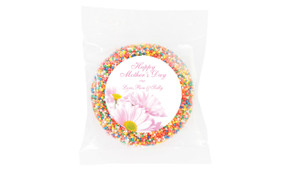 Pink Daisies Personalised Giant Chocolate Freckle