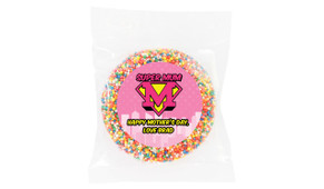 Super Mum Pink Personalised Giant Chocolate Freckle