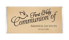 Old Dove Script Communion Personalised Chocolates