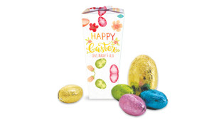 Watercolour Eggs Personalised Easter Egg Chocabox