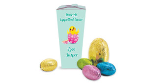 Chickens Hatching Personalised Easter Egg Chocabox
