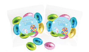 Big Egg Bunny Personalised Bag Of Easter Eggs