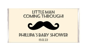 Moustache Of A Little Man Baby Shower Custom Chocolates