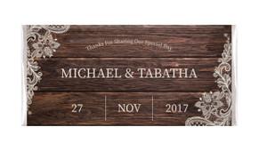 Old Wood & Lace Personalised Wedding Chocolates