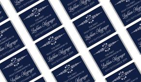 Dove Crest Blue Personalised First Communion Mini Chocolates