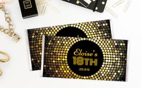 Gold Disco Personalised Birthday Chocolates