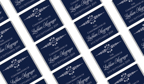 Dove Crest Blue Personalised Confirmation Mini Chocolates