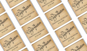 Old Dove Script Personalised Confirmation Mini Chocolates