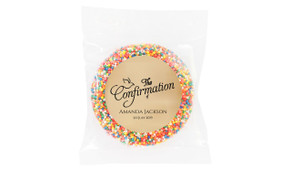 Old Dove Script Personalised Confirmation Chocolate Freckle