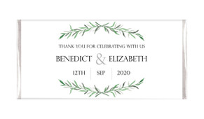 Green Branches Personalised Wedding Chocolates