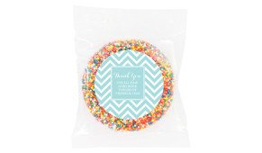 Chevron Personalised Thank You Chocolate Freckle
