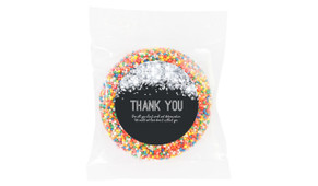 Confetti In Silver Personalised Thank You Chocolate Freckle