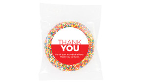 Contemporary Personalised Thank You Chocolate Freckle