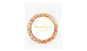 Gold Confetti Personalised Thank You Chocolate Freckle