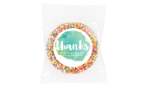 Watercolour Personalised Thank You Chocolate Freckle